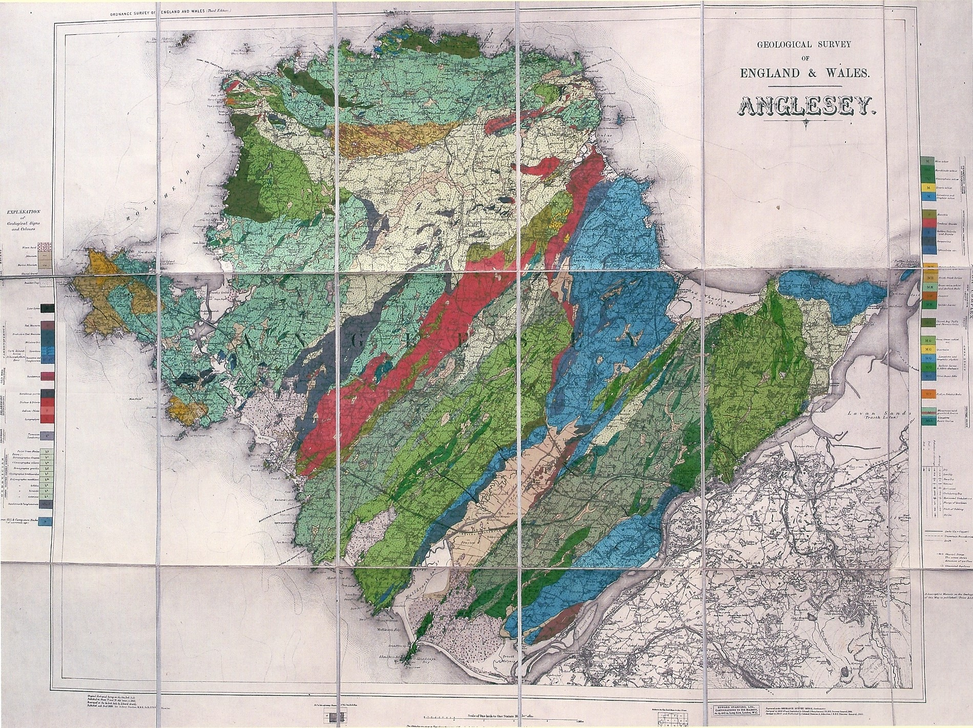 Greenly's geological map of Anglesey 1919