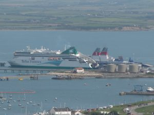 Ferries in Holyhead harbour