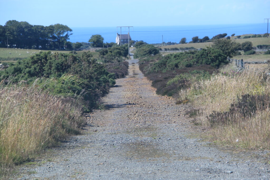 The Parys Mine is probably unique amongst large mines in never having a railway; ore was transported by horse and cart down this trackway to Porth Amlwch[J Conway]