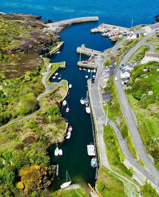 aerial view of Porth Amlwch (c. Shaun David Ault)